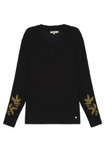 Пуловер с вышивкой на рукавах Akhmadullina Dreams