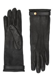 Черные кожаные перчатки Burberry