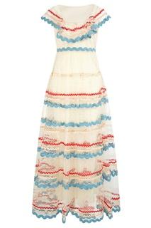 Платье с цветными тесемками RED Valentino