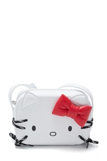 Белая кожаная сумка Hello Kitty Balenciaga