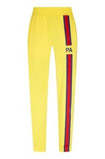 Желтые трикотажные брюки Palm Angels