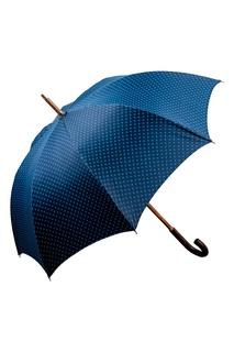 Синий зонт-трость с мелким принтом Maglia Francesco