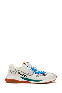 Белые кроссовки с логотипами Gucci