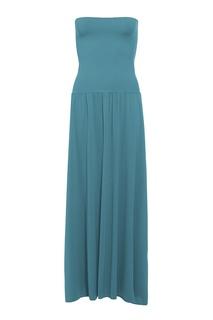 Бирюзовое платье-бандо Oda Eres