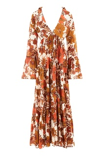 Хлопковое платье с цветочным принтом Dodo Bar Or