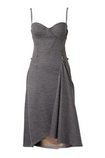 Асимметричное шерстяное платье Burberry
