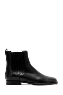 Черные кожаные ботинки Chettina 25 Manolo Blahnik