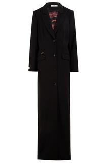 Черное длинное платье-блейзер Laroom