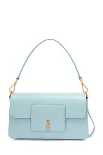 Голубая кожаная сумка Georgia Wandler