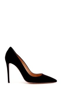 Черные замшевые туфли Simply Irresistible Pump 105 Aquazzura