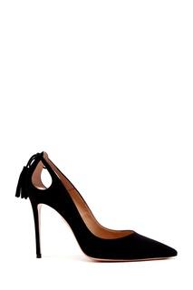 Черные замшевые туфли Forever Marilyn 105 Aquazzura