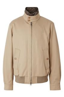 Хлопковая бежевая куртка с подкладкой Burberry