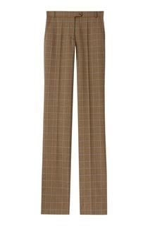Шерстяные брюки в клетку Burberry
