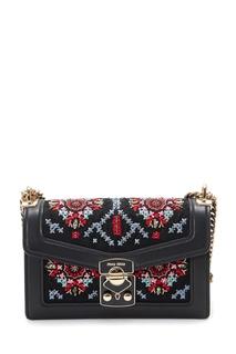 Текстильная сумка с вышивкой крестиком Miu Miu
