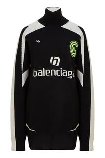 Черно белый свитер из шерсти Balenciaga