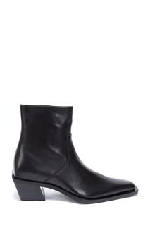 Черные кожаные ботинки Balenciaga