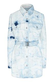 Светло-голубое джинсовое платье Off White
