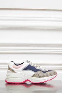 Комбинированные кроссовки Gucci