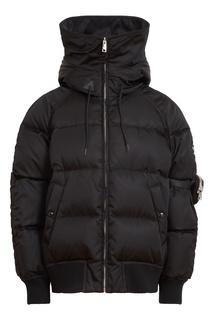 Черная куртка с капюшоном Prada