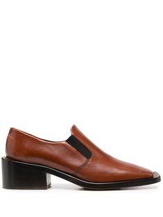 MM6 Maison Margiela лоферы на каблуке с квадратным носком