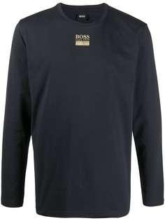 Boss Hugo Boss футболка с длинными рукавами и логотипом