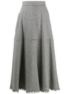 Federica Tosi юбка миди со складками и узором в елочку