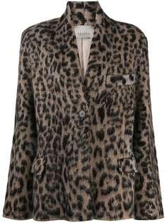 Laneus жакет с леопардовым принтом
