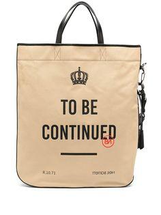 Neil Barrett сумка-тоут To Be Continued с принтом