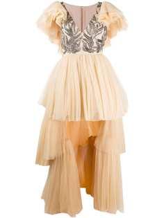 Parlor вечернее платье из тюля с пайетками
