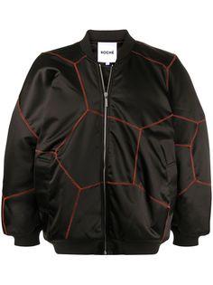 Koché куртка-бомбер с контрастной строчкой