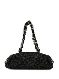 Chanel Pre-Owned вельветовая сумка на плечо 2006-го года с цепочкой