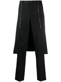 Comme Des Garçons брюки со вставкой сзади
