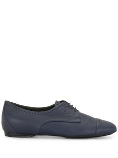 Hermès оксфорды на шнуровке