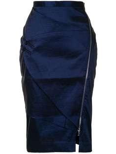 Lisa Von Tang атласная юбка-карандаш