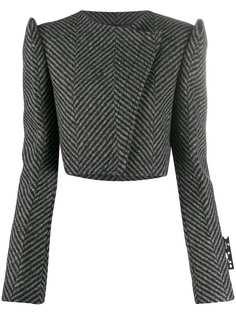Off-White укороченный пиджак с объемными плечами