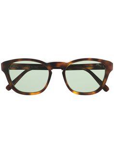 Brioni солнцезащитные очки в оправе черепаховой расцветки