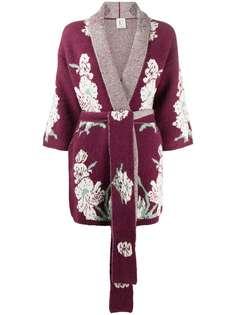 LAutre Chose трикотажный халат с вышивкой