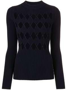 Victoria Beckham свитер с круглым вырезом и узором аргайл