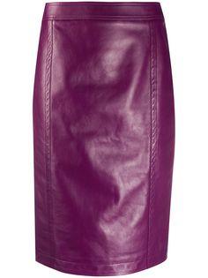 Saint Laurent юбка-карандаш с завышенной талией