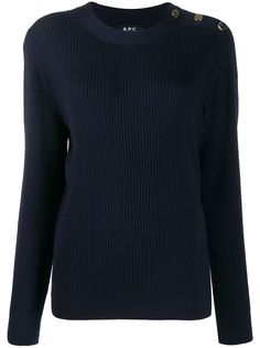 A.P.C. shoulder-button ribbed jumper