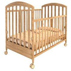 Кроватка Papaloni Луи (качалка) орех светлый