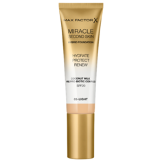 Max Factor Тональный крем Miracle Touch Second Skin, 30 мл, оттенок: 03 light