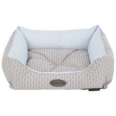 Лежак для собак Scruffs Siesta Cool Blue с бортиками 60х50х20 см голубой