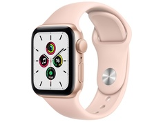 Умные часы APPLE Watch SE 40mm Gold Aluminium Case with Pink Sand Sport Band MYDN2RU/A