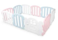 Детский манеж Ifam First Baby Room с калиткой, белый, розовый, голубой