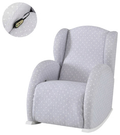 Кресло-качалка Micuna (Микуна) Wing/Flor Relax white/galaxy grey