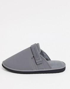Серые тапочки-слиперы ASOS Unrvlld Supply-Серый