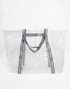 Большая сумка-тоут из прозрачного пластика ASOS Unrvlld Supply-Белый