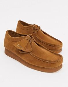 Светло-коричневые замшевые туфли Clarks Originals-Светло-коричневый