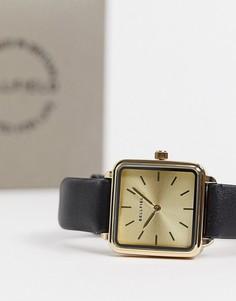 Квадратные часы с черным ремешком Bellfield-Черный